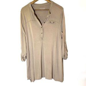 Soft Surroundings•Half Button Slouchy Tunic Blouse